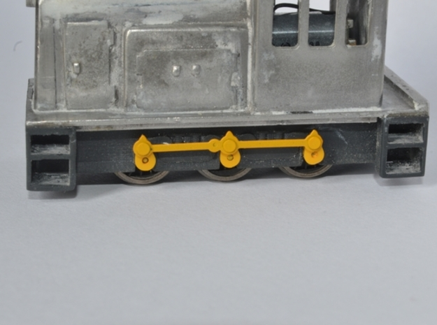 GE sideframes and buffers for Five79 kits in Smooth Fine Detail Plastic