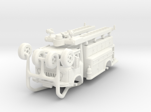 1/64-scale World Fair Pumper in White Processed Versatile Plastic