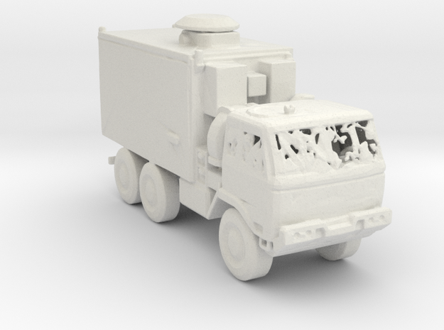 M1087 Expansible Van 1:220 scale in White Natural Versatile Plastic