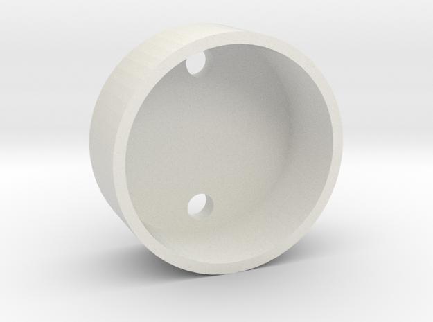 28 mm Base Speaker Holder in White Natural Versatile Plastic