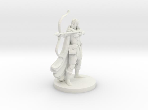 Female Alchemist Archer in White Natural Versatile Plastic