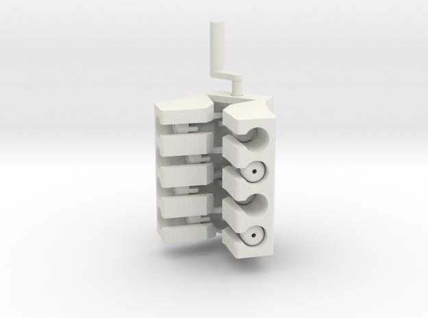 V8 Engine in White Natural Versatile Plastic