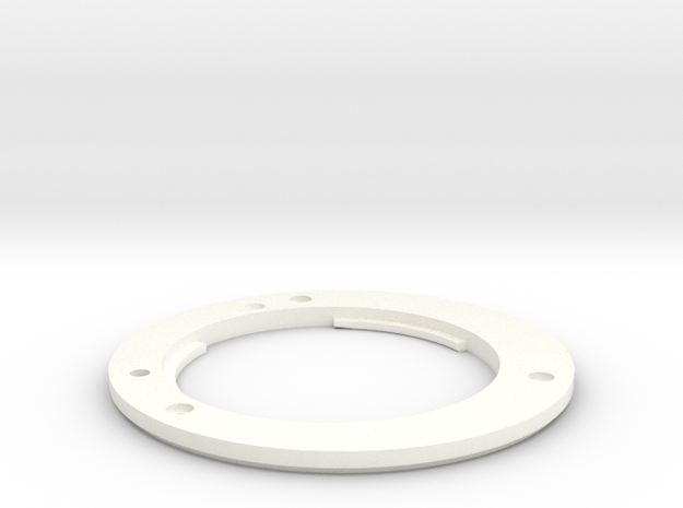 Fuji mount ring for PD Nikon capture lens in White Strong & Flexible Polished