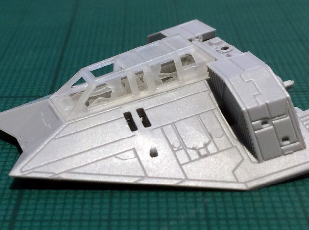 Snow speeder, Closed Canopy and Flaps, 1:144 in Frosted Extreme Detail