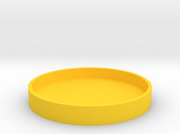 Okito Box Lid 2 Euro in Yellow Processed Versatile Plastic