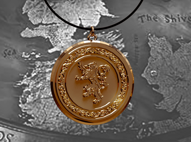 Game of Thrones Lannister Lion Pendant in 14k Gold Plated