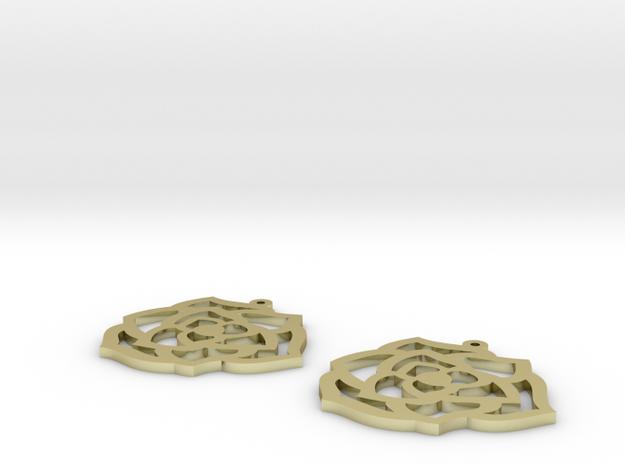 flower earrings in 18k Gold