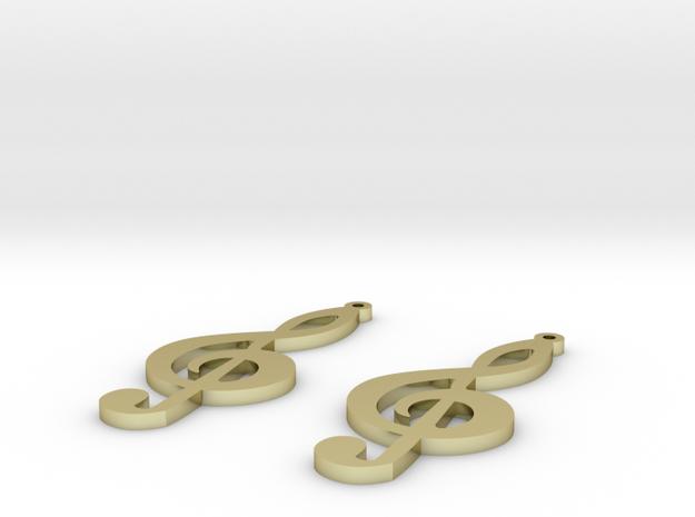 treble clef earrings in 18k Gold