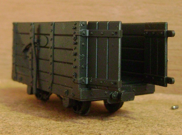 FR Waggon Open Doors 5.5mm Scale in Smooth Fine Detail Plastic