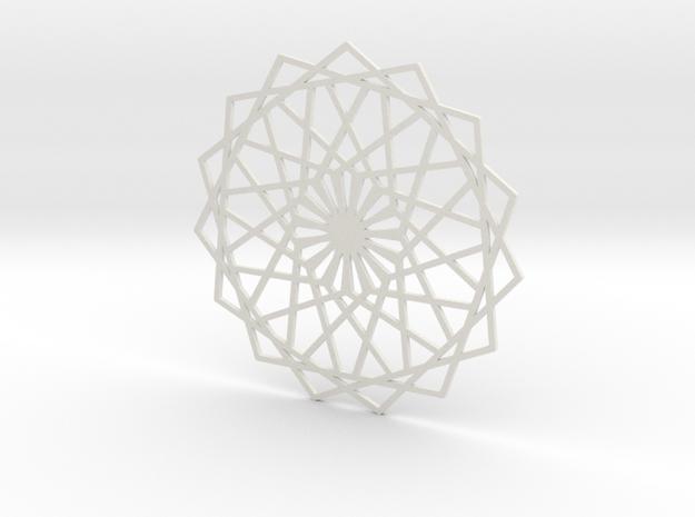 Coaster_2 in White Natural Versatile Plastic