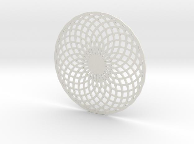Coaster_8 in White Natural Versatile Plastic