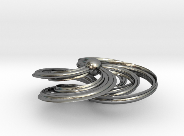CELTIC SWIRL in Polished Silver