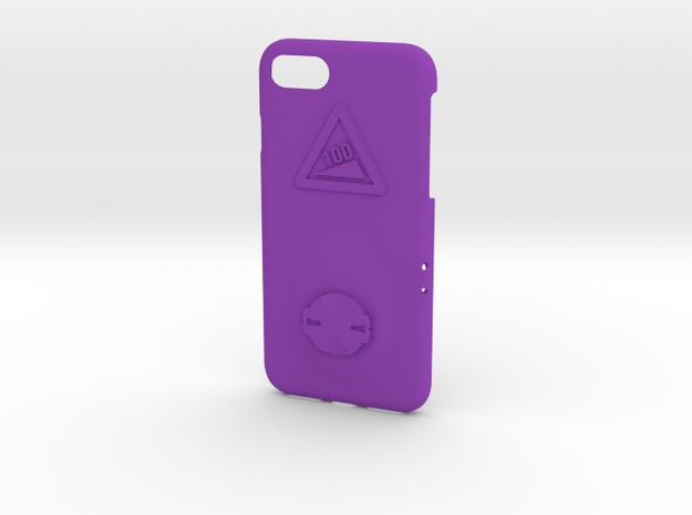 iPhone 8 Garmin Mount Case - Hill Climb in Purple Processed Versatile Plastic