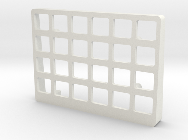 Let's Split Keyboard Case - Right Top in White Strong & Flexible
