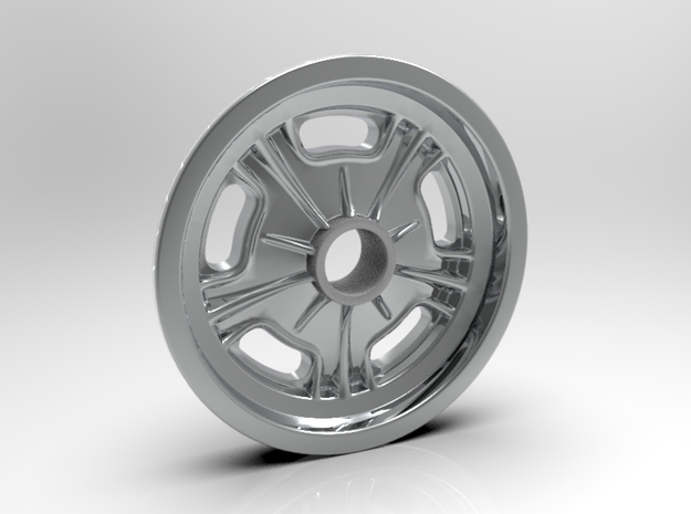 1:8 Halibrand Style Spindle Mount in White Processed Versatile Plastic