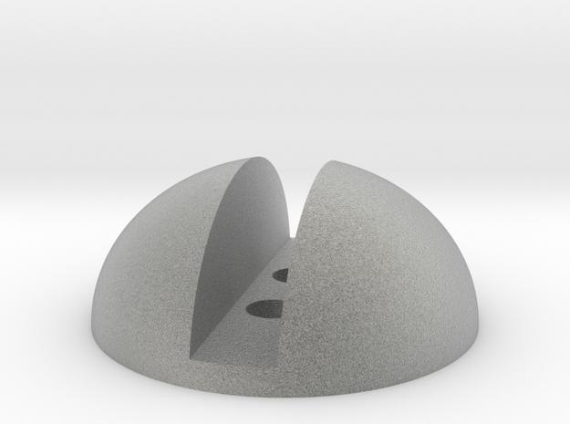 Screw Button in Metallic Plastic