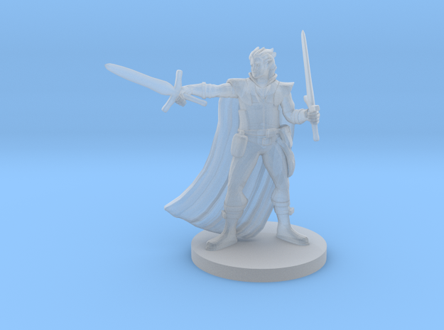 Half Elf Two Weapon Fighter in Smooth Fine Detail Plastic
