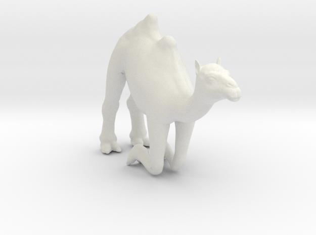Printle Thing Camel Kneeling - 1/76 in White Natural Versatile Plastic