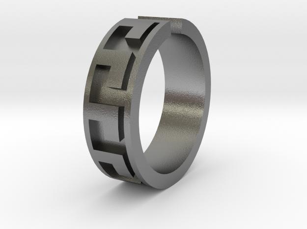 Roman Midi Ring  in Raw Silver