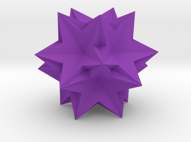 Ten tetrahedra in Purple Strong & Flexible Polished