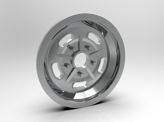 1:8 Front Halibrand Style Salt Flat Wheel in White Strong & Flexible Polished