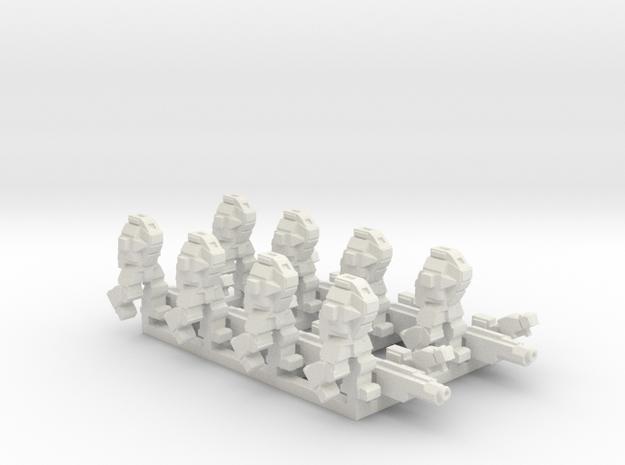 Ares MkIII  2 Squads in White Natural Versatile Plastic