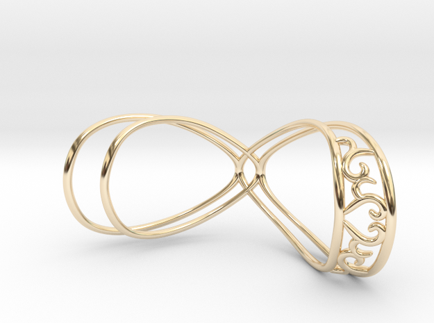 Splint - HE-heart in 14k Gold Plated Brass