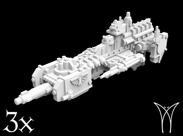 3 Lightning class Frigates in Smooth Fine Detail Plastic
