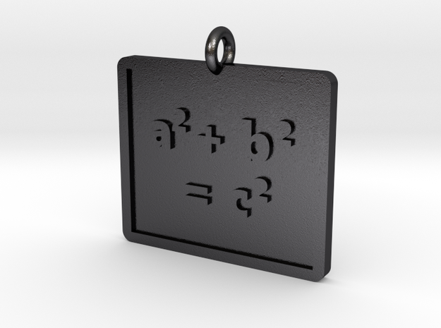 Pythagorean Theorem Pendant in Polished and Bronzed Black Steel