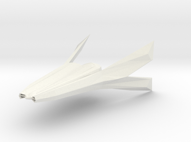 F/A-174 Laridae Space Fighter in White Strong & Flexible: 6mm