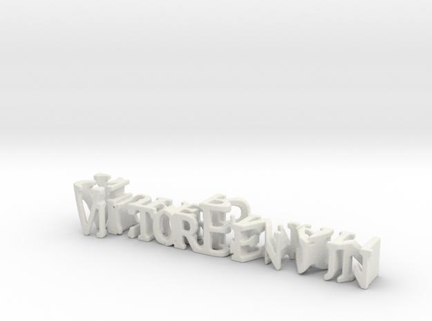 3dWordFlip: VictorBenoun/Superman in White Natural Versatile Plastic