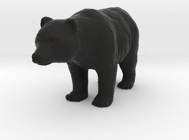 Bear in Black Natural Versatile Plastic: 1:64 - S