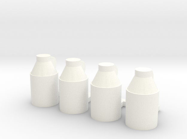 Milk Jugs (S) in White Processed Versatile Plastic