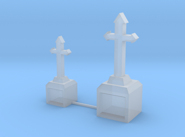 Tombstone Crosses in Smooth Fine Detail Plastic: 1:64 - S