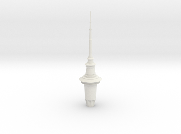 ASTT - Auckland SkyTower 1:500 Top Section in White Strong & Flexible