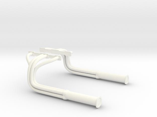 1:8 American Graffiti Header Set in White Processed Versatile Plastic