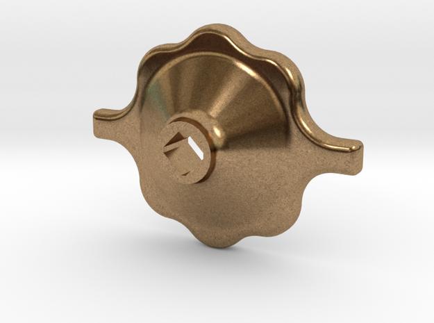 """South African Railways Medium Valve Handwheel 2.5"""" in Natural Brass"""