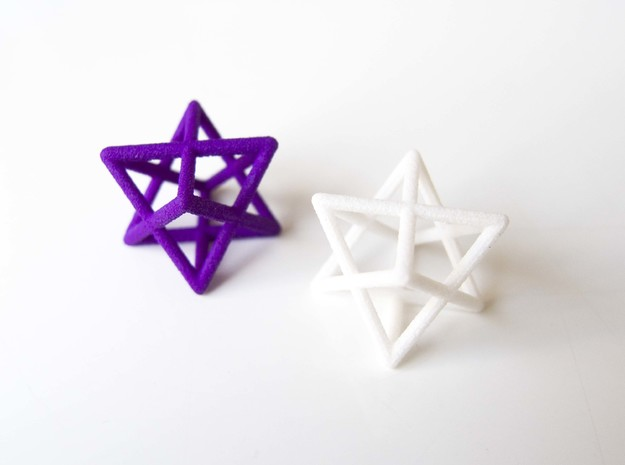 Merkaba pendant - extra small in White Natural Versatile Plastic