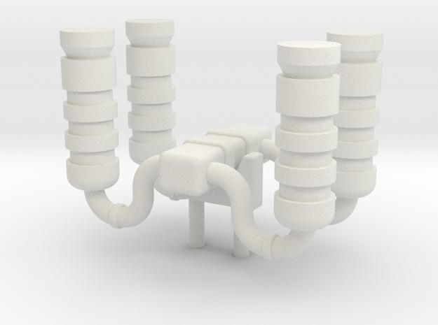 Steam Cap in White Natural Versatile Plastic