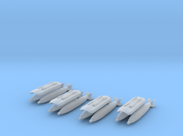 Saab Gripen Twin Store Carriers with Mk82 Bombs in Frosted Ultra Detail: 1:72