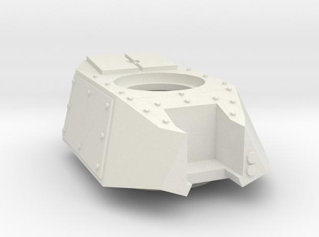 Mk40MBT turret in White Natural Versatile Plastic