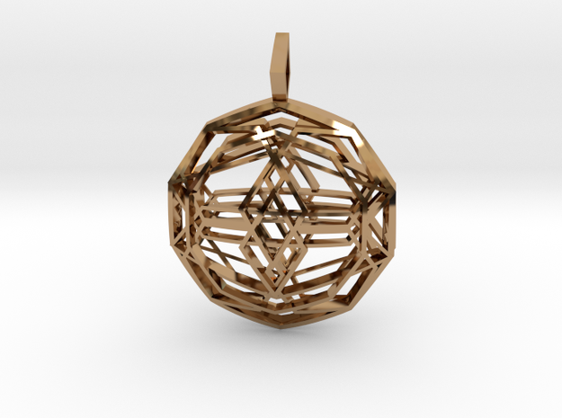 Source Sphere (Double Domed) in Polished Brass