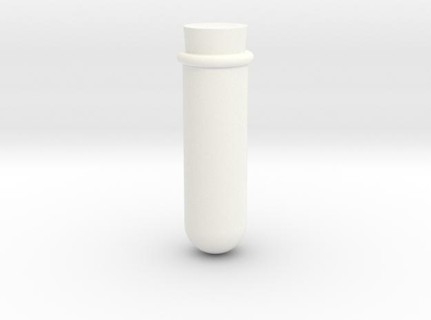 Test Tube Game Piece in White Processed Versatile Plastic