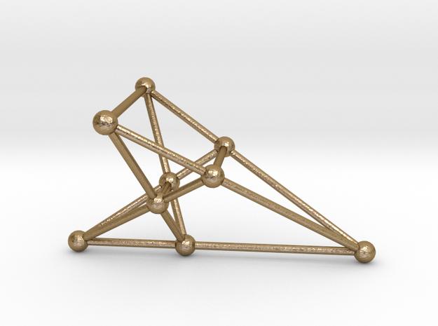 Desargues's Golden Configuration (female) in Polished Gold Steel