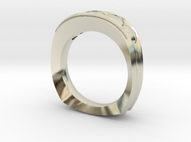 Illuminated Ring in 14k White Gold