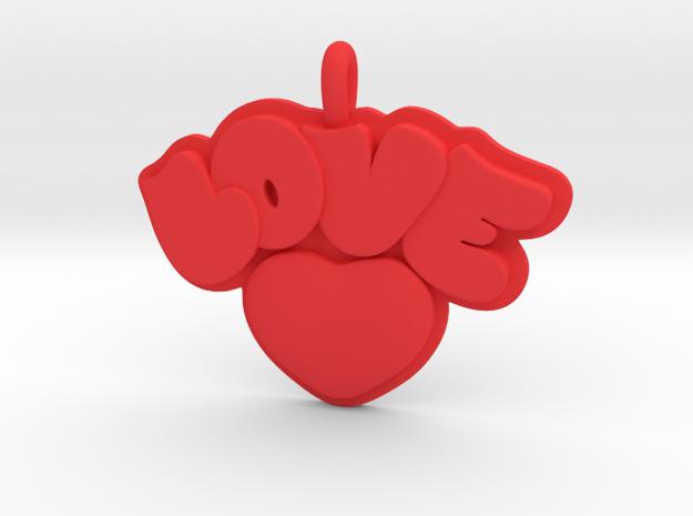 36- LOVE BUBBLES -HEART  in Red Processed Versatile Plastic: Small