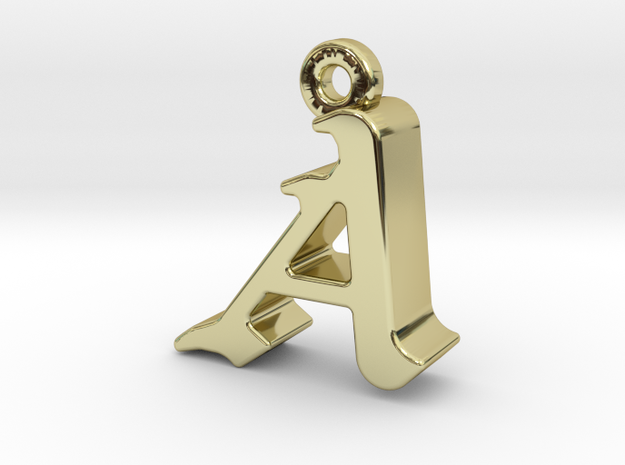 A2- Pendant - 3mm thk. in 18k Gold Plated Brass