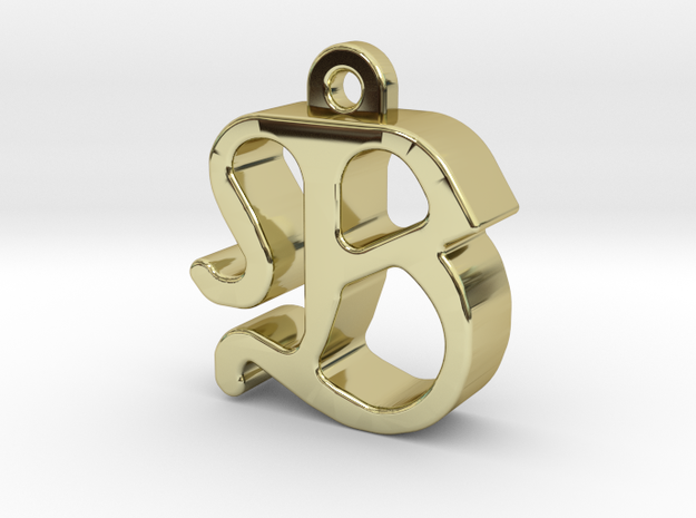 B2 - Pendant 3mm thk. in 18k Gold Plated Brass