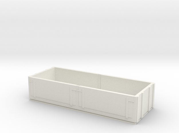 OO9 Tall Side Wagon in White Natural Versatile Plastic