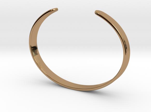 Cuff Bracelet – Narrow in Polished Brass
